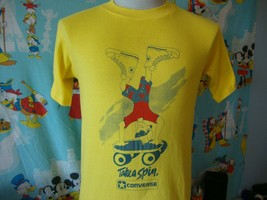 Vintage 80's Converse Take A Spin Skateboard T Shirt M  - $59.39