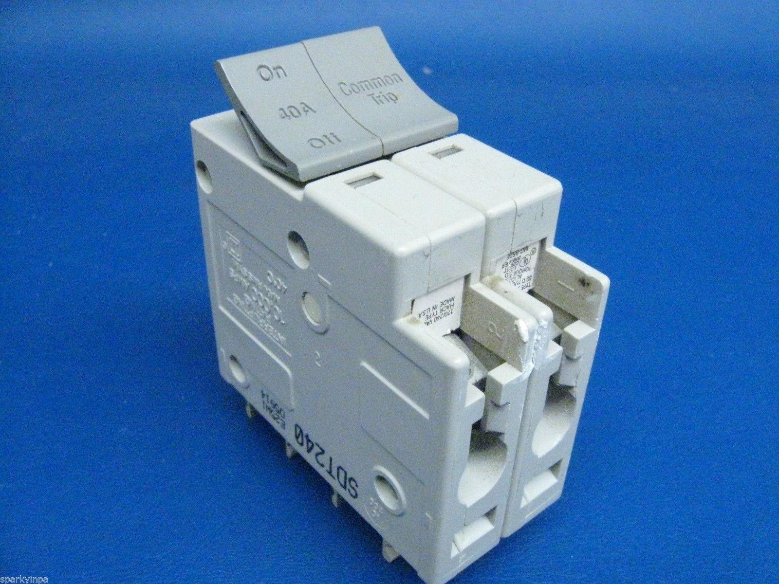 40 Amp Square D TRILLIANT 40A SQD Breaker Double or 2 Pole SDT240  GUARANTEED !