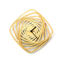 Contemporary modern wall clock made of wood w exciting geometric pattern... - $109.00