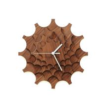 Unique stylish wall clock made of veneered plywood, a wall art - Cogwhee... - $89.00