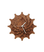 Cogwheel walnut - unique stylish wall clock mad... - $79.00