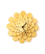 Flower - unique raw colored wooden wall clock, ... - $79.00