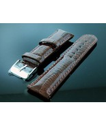 Techno Com Kc Leather One Pin Watch Strap, 22 mm Wide dark brown Color w... - $39.59