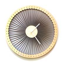 Wood + plastic large wall clock, contemporary wall art - Turbine - $149.00