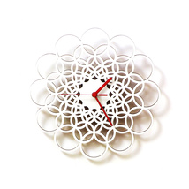 Unique contemporary wooden wall clock made of natural materials - Rings ... - $89.00