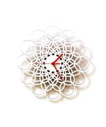 Rings white - unique contemporary wooden wall c... - $79.00