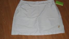 Allyson Whitmor Golf Skorts Size 14 White Embroidered Nwt - $17.94