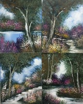 The Path's: Set of 4 Paintings  By Anna Ray - $800.00