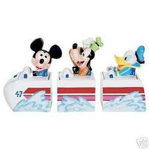 Disney Mickey Goofy Donald 3 Canasters cookie jars - $275.99