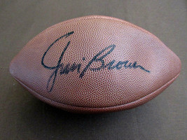 JIM BROWN CLEVELAND BROWNS HOF SIGNED AUTO VINTAGE WILSON THE DUKE FOOTB... - $395.99