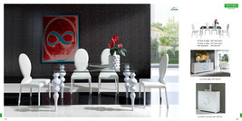 """Chic Contemporary Style 767 Dining Table 63"""" White Modern Style"""