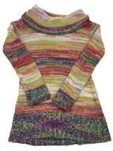 Womens Bongo Multi Color Comfy Cowl Sweater Medium Size M - $15.30