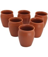 Hande crafted Pottery coffee mug cup Set Of 6 Tea Cups kulhad small supe... - $24.00
