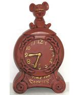 McCoy Time For Cookies Cookie Jar Brown Clock Mouse Vintage - $69.95