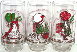 Holly Hobbie Coke Glasses American Greetings Limited Edition Vintage Lot of 3 - $24.97