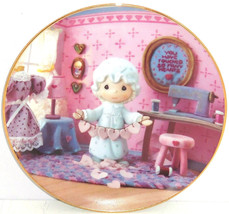 Precious Moments Plate Touched Hearts Hamilton Collection Collector Vale... - $59.95