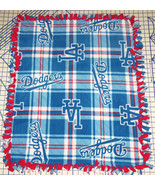 "Los Angeles Dodgers Baby Blanket Fleece Pet Lap Blue Red 30""x 24"" MLB Ba... - $36.95+"