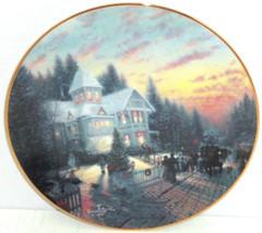 Thomas Kinkade Collector Plate Magic Christmas House Lights Bradford Exc... - $59.95