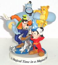Walt Disney World Genie Goofy Simba Mickey Figurine 1996 25th Magical Place Time - $199.95