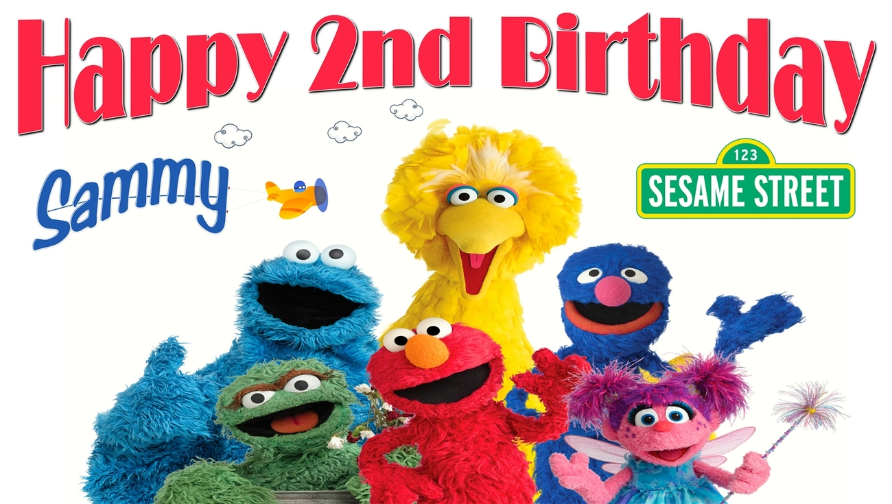 Sesame Street Personalized Birthday Banner Party Decoration