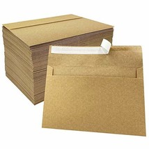 JOLLY SWEETS 150pcs Brown Kraft A8 Invitation Envelopes For Paper Crafts... - $29.75