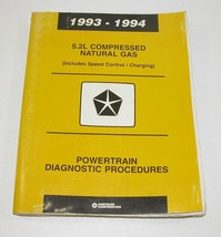 1993-1994 Chrysler Dodge 5.2L Compressed Natural Gas Service Manual - $12.82