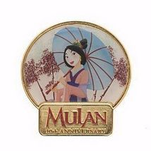 Disney  Mulan  heroic Chinese princess - 10th Anniversary Pin on Pin pin... - $49.99