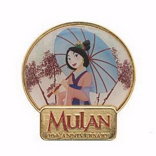 Disney  Mulan  heroic Chinese princess - 10th Anniversary Pin on Pin pin/pins