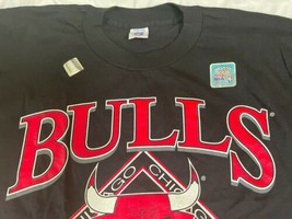 Vintage Black New 1993 Chicago Bulls NBA Finals T Shirt Men XL World Champions image 2