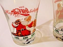 Vintage 1996 Enjoy Coca Cola Classic Coke Happy Holidays set of 2 glasses - $12.38