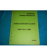 1963-1980 63 80 HONDA POWER PRODUCTS PARTS HISTORY GUIDE - $94.03