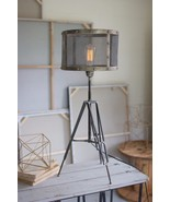 Industrial Urban Style Tripod Table Lamp Wire Mesh Shade Vintage  Retro ... - $188.10