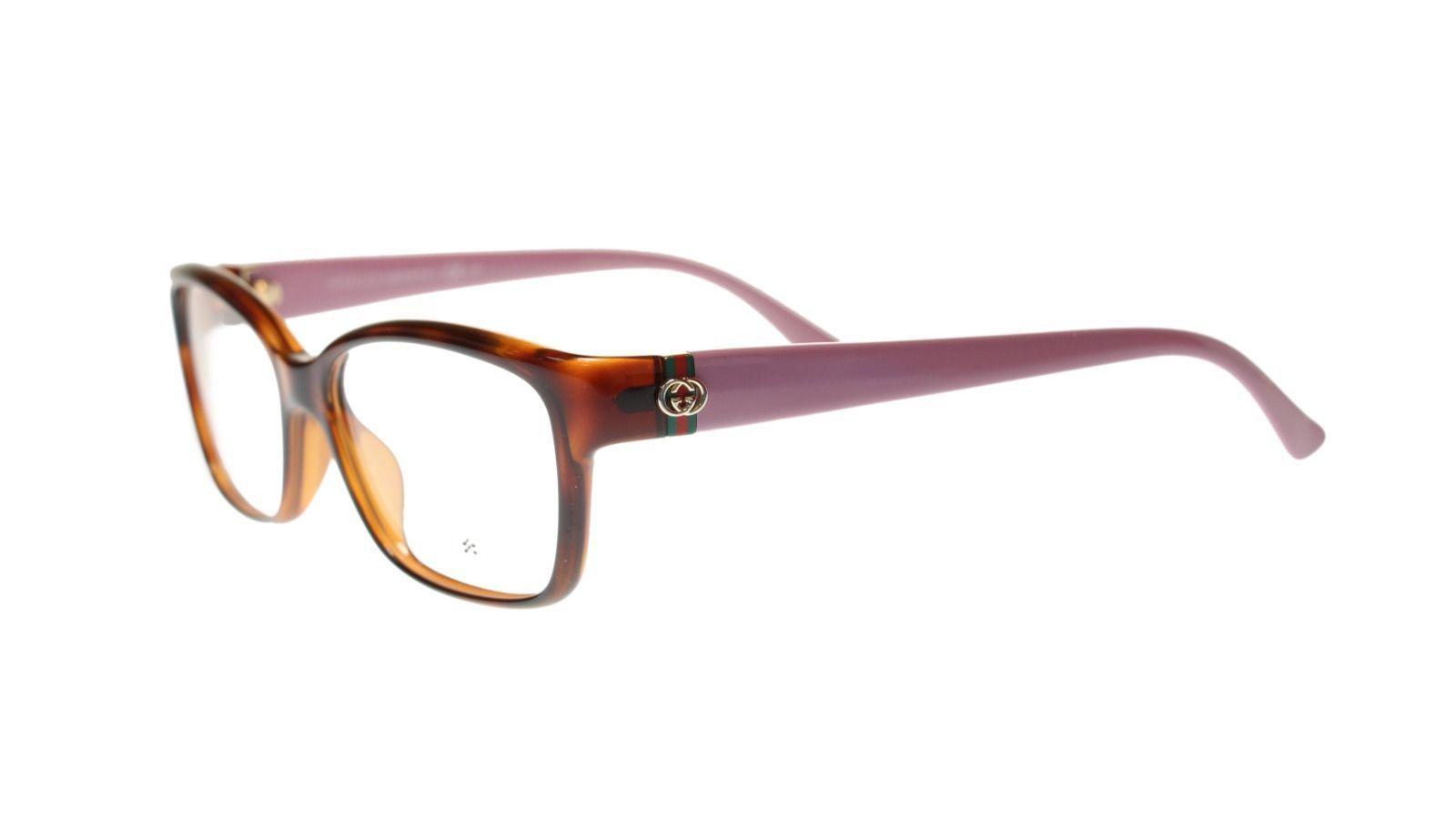 99c3d5e0264 S l1600. S l1600. Previous. Gucci Women s Rectangular Eyeglasses GG3627 CRE  Havana Purple 52mm Authentic