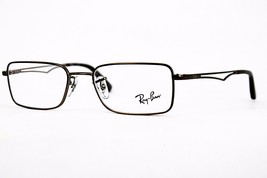 Ray Ban Rectangular Unisex RB6223 2690 Brown Eyeglasses Full Rim 53mm Authentic - $80.51