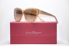 Salvatore Ferragamo SF711 726 Striped Honey Cat Eye Womens Sunglasses 59mm - $87.30