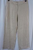 Jones New York Collection Pants Sz 14 Chino Jivo Casual Linen Rayon Blen... - $59.35