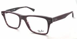 Ray Ban Rectangle Unisex RB5308 5236 Burgundy Plastic Eyeglasses 51mm Authentic - $90.21