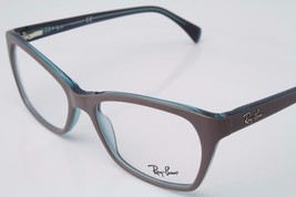 Ray Ban Rectangle Unisex RB5298 5389 Matte Grey Eyeglasses 55mm Authentic - $90.21