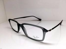 Ray Ban Rectangular Unisex RB7019 5244 Grey Smoke Eyeglasses 53mm Authentic - $86.33