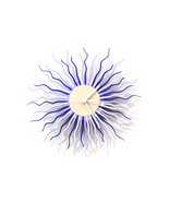 Radium II in purple - stylish modern wooden wall clock, a piece of wall art - $109.00