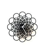Rings - unique contemporary wooden wall clock m... - $79.00