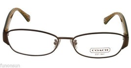 COACH ROSE HC5018 9076 SATIN BROWN EYEGLASSES AUTHENTIC 53MM - $72.75