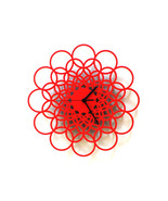 Rings red - unique contemporary wooden wall clo... - $79.00