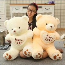 1pc Teddy Bear Large Stuffed Plush Toy Holding LOVE Heart Soft Gift for ... - $16.83+