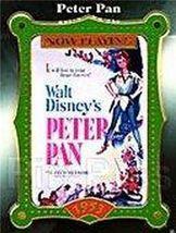 Disney Peter Pan Movie Poster Peter Pan dated 1953 released  2001 pin/pins - $28.04