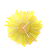 The Sun - stylish yellow / golden wooden wall c... - $139.00