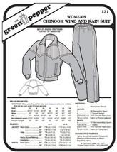 Women's Chinook Wind and Rain Suit Jacket Coat Pants #131 Sewing Pattern gp131 - $7.00