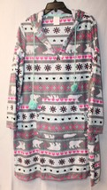 NEW WOMENS PLUS SIZE 3X FAIRISLE HEARTS BEARS SNOW HOODED NIGHTGOWN SLEE... - $19.34