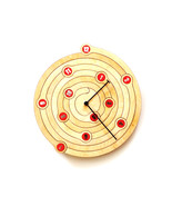 Spiral - unique raw + red wall clock made of wo... - $99.00
