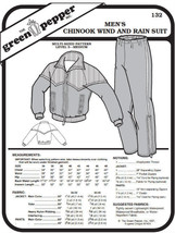 Men's Chinook Wind and Rain Suit Coat Jacket Pants #132 Sewing Pattern g... - $9.00